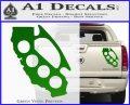 Cali Knucks Decal Sticker California Brass Knuckles Green Vinyl 120x97
