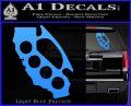 Cali Knucks Decal Sticker California Brass Knuckles Light Blue Vinyl 120x97