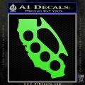 Cali Knucks Decal Sticker California Brass Knuckles Lime Green Vinyl 120x120