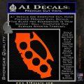 Cali Knucks Decal Sticker California Brass Knuckles Orange Vinyl Emblem 120x120