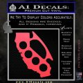 Cali Knucks Decal Sticker California Brass Knuckles Pink Vinyl Emblem 120x120