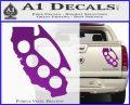 Cali Knucks Decal Sticker California Brass Knuckles Purple Vinyl 120x97
