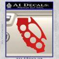 Cali Knucks Decal Sticker California Brass Knuckles Red Vinyl 120x120