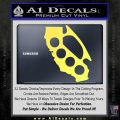 Cali Knucks Decal Sticker California Brass Knuckles Yellow Vinyl 120x120