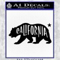 California Bear DN Decal Sticker Black Vinyl Logo Emblem 120x120