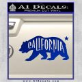 California Bear DN Decal Sticker Blue Vinyl 120x120