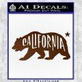 California Bear DN Decal Sticker Brown Vinyl 120x120