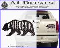 California Bear DN Decal Sticker Carbon Fiber Black 120x97