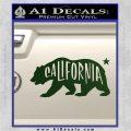 California Bear DN Decal Sticker Dark Green Vinyl 120x120