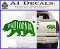 California Bear DN Decal Sticker Green Vinyl 120x97