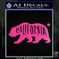 California Bear DN Decal Sticker Hot Pink Vinyl 120x120