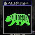 California Bear DN Decal Sticker Lime Green Vinyl 120x120