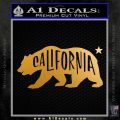 California Bear DN Decal Sticker Metallic Gold Vinyl 120x120