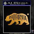 California Bear DN Decal Sticker Metallic Gold Vinyl 120x120