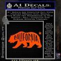California Bear DN Decal Sticker Orange Vinyl Emblem 120x120