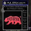 California Bear DN Decal Sticker Pink Vinyl Emblem 120x120