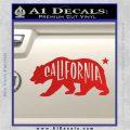 California Bear DN Decal Sticker Red Vinyl 120x120
