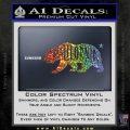 California Bear DN Decal Sticker Sparkle Glitter Vinyl Sparkle Glitter 120x120
