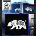 California Bear DN Decal Sticker White Vinyl Emblem 120x120