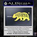 California Bear DN Decal Sticker Yellow Vinyl 120x120