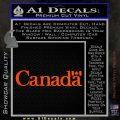 Canada Decal Sticker Text Flag Orange Vinyl Emblem 120x120