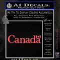 Canada Decal Sticker Text Flag Pink Vinyl Emblem 120x120