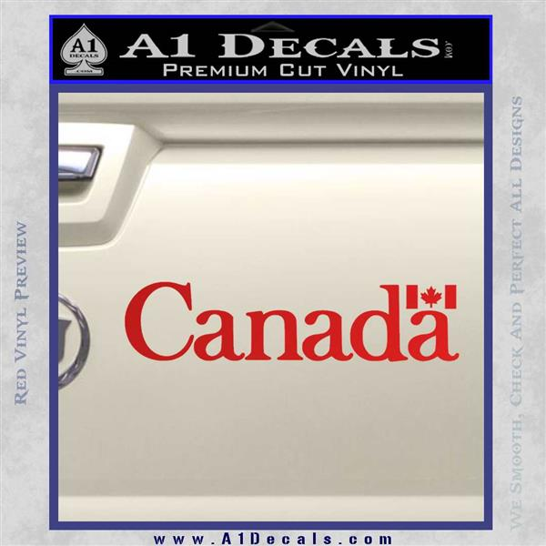 Canada Decal Sticker Text Flag Red Vinyl