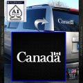 Canada Decal Sticker Text Flag White Vinyl Emblem 120x120