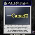 Canada Decal Sticker Text Flag Yellow Vinyl 120x120