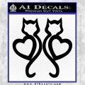 Cat Heart V7 Decal Sticker 2 Pack Black Vinyl Logo Emblem 120x120