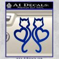 Cat Heart V7 Decal Sticker 2 Pack Blue Vinyl 120x120
