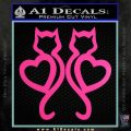 Cat Heart V7 Decal Sticker 2 Pack Hot Pink Vinyl 120x120