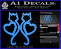 Cat Heart V7 Decal Sticker 2 Pack Light Blue Vinyl 120x97