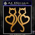 Cat Heart V7 Decal Sticker 2 Pack Metallic Gold Vinyl 120x120