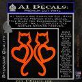 Cat Heart V7 Decal Sticker 2 Pack Orange Vinyl Emblem 120x120