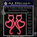 Cat Heart V7 Decal Sticker 2 Pack Pink Vinyl Emblem 120x120