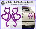 Cat Heart V7 Decal Sticker 2 Pack Purple Vinyl 120x97