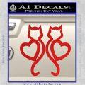 Cat Heart V7 Decal Sticker 2 Pack Red Vinyl 120x120