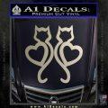 Cat Heart V7 Decal Sticker 2 Pack Silver Vinyl 120x120