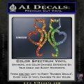 Cat Heart V7 Decal Sticker 2 Pack Sparkle Glitter Vinyl Sparkle Glitter 120x120