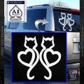 Cat Heart V7 Decal Sticker 2 Pack White Vinyl Emblem 120x120