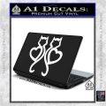 Cat Heart V7 Decal Sticker 2 Pack White Vinyl Laptop 120x120