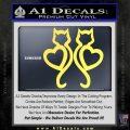 Cat Heart V7 Decal Sticker 2 Pack Yellow Vinyl 120x120