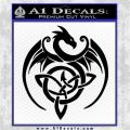 Celtic Dragon Knot Decal Sticker Black Vinyl Logo Emblem 120x120