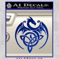 Celtic Dragon Knot Decal Sticker Blue Vinyl 120x120