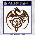 Celtic Dragon Knot Decal Sticker Brown Vinyl 120x120