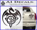 Celtic Dragon Knot Decal Sticker Carbon Fiber Black 120x97