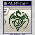 Celtic Dragon Knot Decal Sticker Dark Green Vinyl 120x120