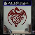 Celtic Dragon Knot Decal Sticker Dark Red Vinyl 120x120