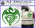 Celtic Dragon Knot Decal Sticker Green Vinyl 120x97
